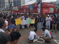 রাজধানীতে বাসচাপায় বিশ্ববিদ্যালয় শিক্ষার্থী নিহত, সড়ক অবরোধ