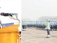 বিমান বাহিনীর বিভিন্ন স্কোয়াড্রন ও ইউনিট'কে বিমান বাহিনী পতাকা প্রদান