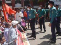 বরিশালে বাম গণতান্ত্রিক জোটের রাজপথ অবরোধ